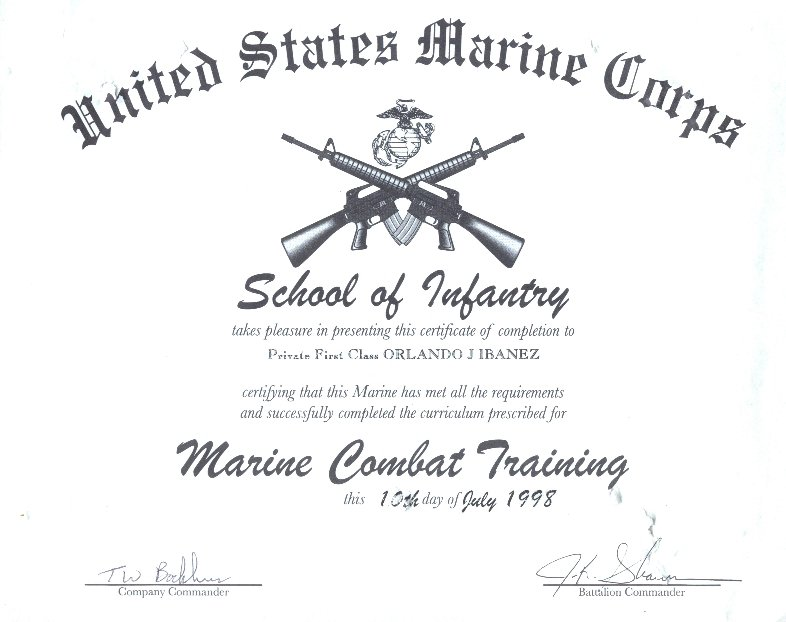 Military Certificates O