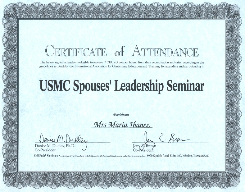 sept 2000 certificates